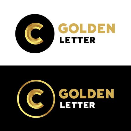 c to c: Letter C logo icon design template elements Illustration