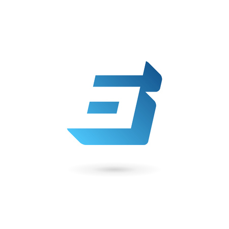 number icon: Number 6 icon design template elements