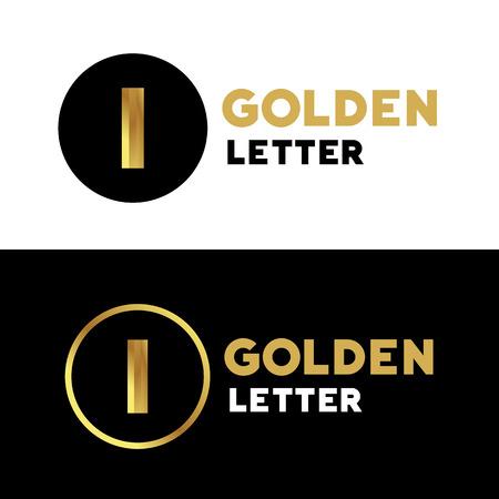 letter i: Letter I number 1  icon design template elements Illustration