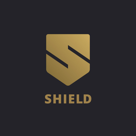 element: Letter S shield logo icon design template elements