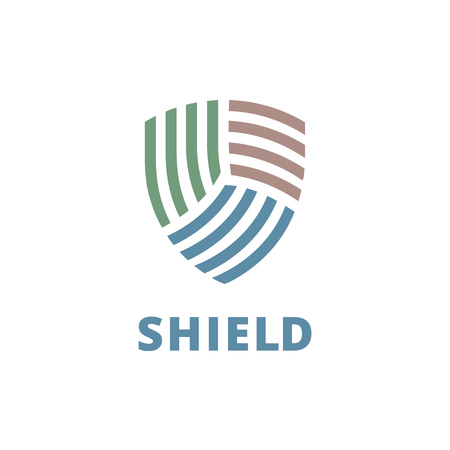 Shield logo icon design template elements Illustration