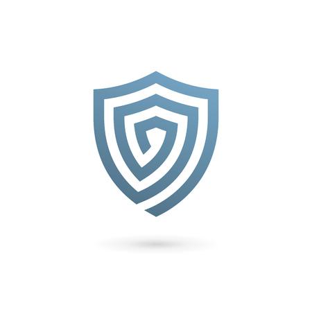 Shield logo icon design template elements 일러스트