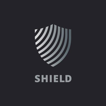 シールド ロゴ アイコンのデザイン テンプレート要素  イラスト・ベクター素材