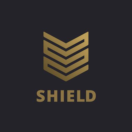 防衛: シールド ロゴ アイコンのデザイン テンプレート要素  イラスト・ベクター素材