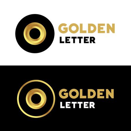 number icon: Letter O number 0 logo icon design template elements Illustration