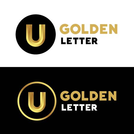 letter u: Letter U logo icon design template elements
