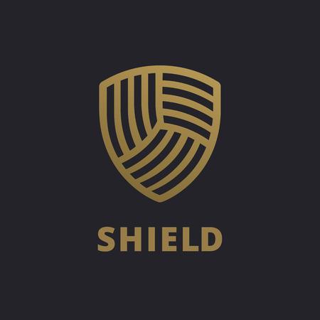 privacidad: logo icono elementos de plantilla de diseño de escudo Vectores