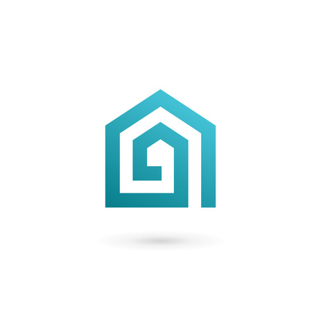 house logo: Letter A real estate house logo icon design template elements