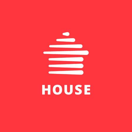 bienes raices: logotipo de la casa Elementos del modelo del diseño de iconos de bienes raíces