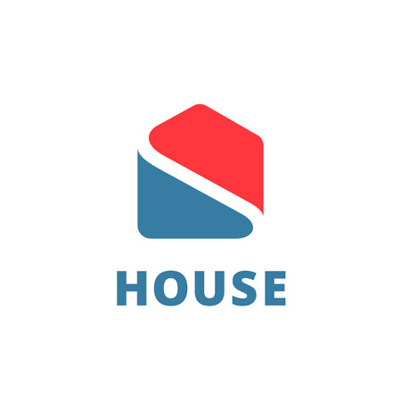 real residential: Real estate house logo icon design template elements