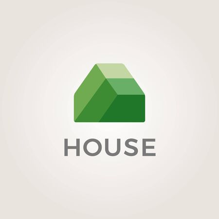 real estate house: Real estate house logo icon design template elements