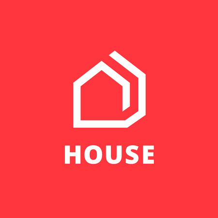 logotipo de la casa Elementos del modelo del diseño de iconos de bienes raíces