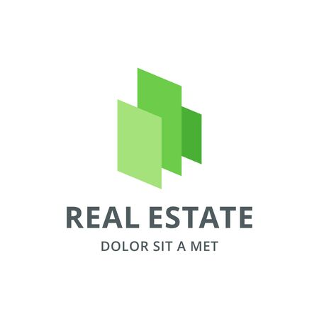 house logo: Real estate house logo icon design template elements