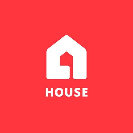 편지 부동산 집 로고 아이콘 디자인 템플릿 요소 일러스트