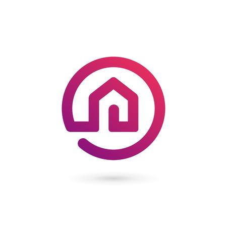 Nieruchomości dom logo ikona elementy szablonu projektu