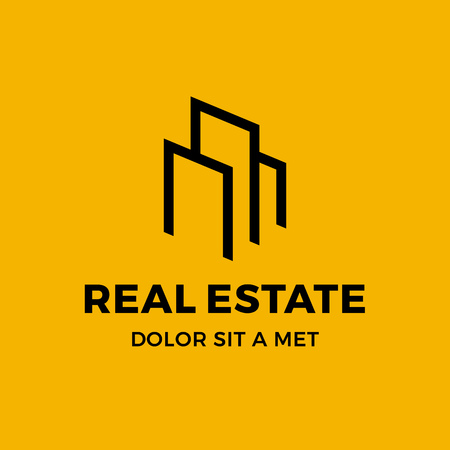 Real estate house logo icon design template elements