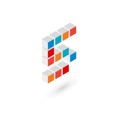 number 5: 3d cube number 5   icon design template elements