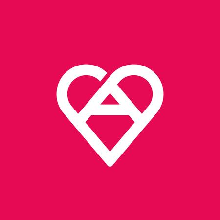 donna innamorata: Lettera un'icona cuore elementi del modello di progettazione Vettoriali