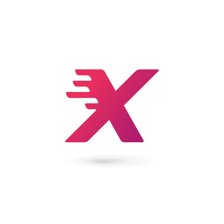 x games: Letter X number 10 icon design template elements Illustration