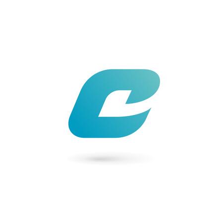 Letra C elementos de plantilla icono del diseño