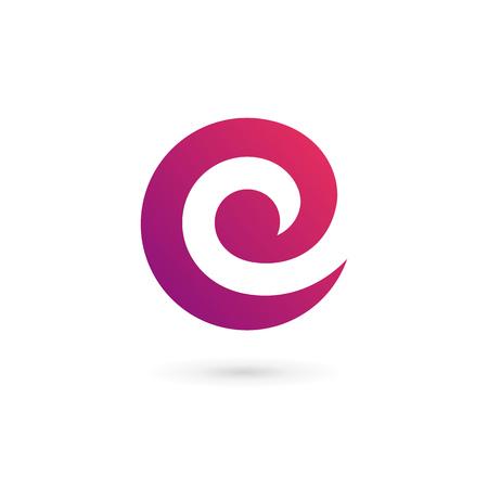 Letter C E icon design template elements 일러스트