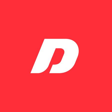 font design: Letter D logo icon design template elements