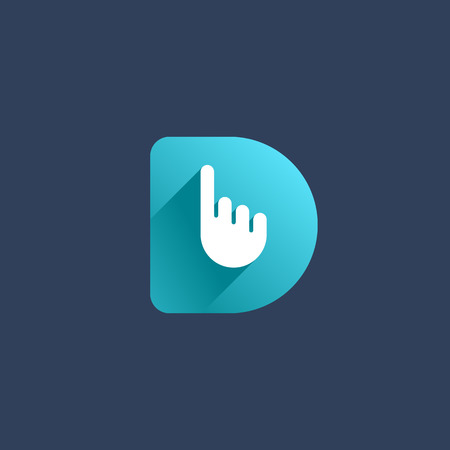 letter: Letter D hand logo icon design template elements