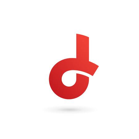 Letra D elementos de plantilla logo icono del diseño