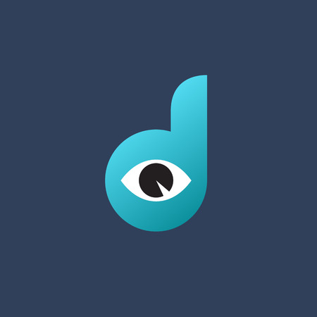 logo design: Letter D eye logo icon design template elements