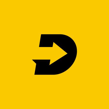 Lettre D éléments de modèle logo icône du design Banque d'images - 56584476