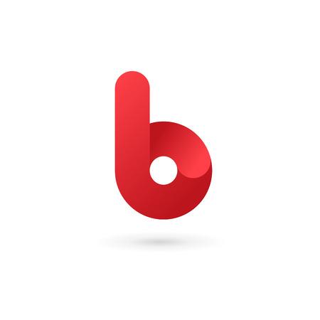 Letter B logo icon design template elements Illusztráció