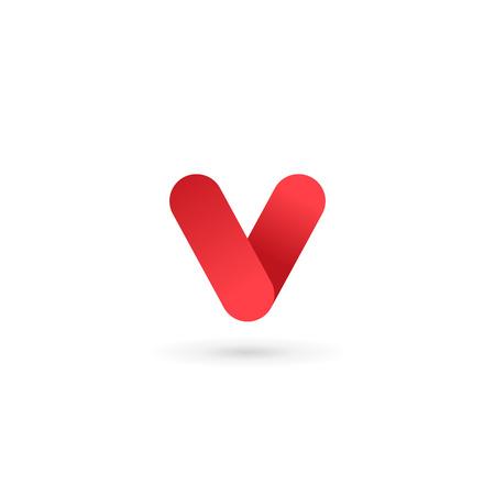 number 5: Letter V number 5 logo icon design template elements Illustration