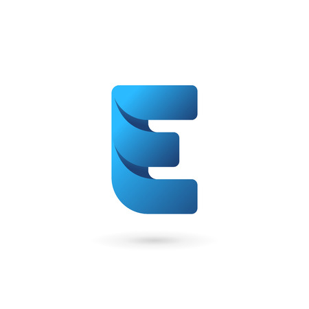 letter: Letter E logo icon design template elements