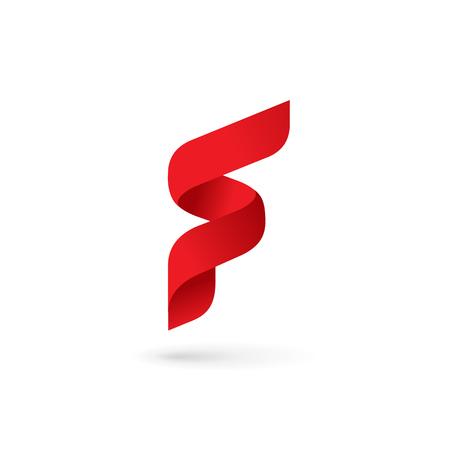 Lettre F logo icon éléments de modèle de conception Banque d'images - 59671771