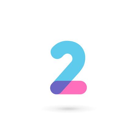Nummer 2 logo icoon ontwerp sjabloon elementen