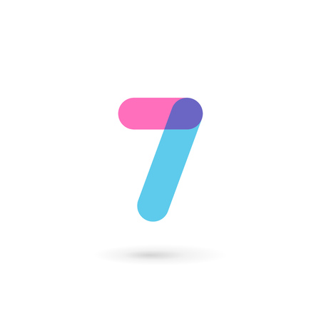 number 7: Number 7 logo icon design template elements