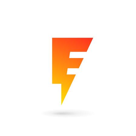 energy logo: Letter E lightning logo icon design template elements