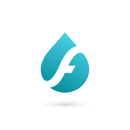 Letter F water drop logo icon design template elements Illustration