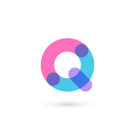 letter q: Letter Q icon design template elements