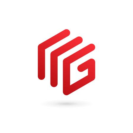 Lettre G éléments de modèle de conception de l'icône