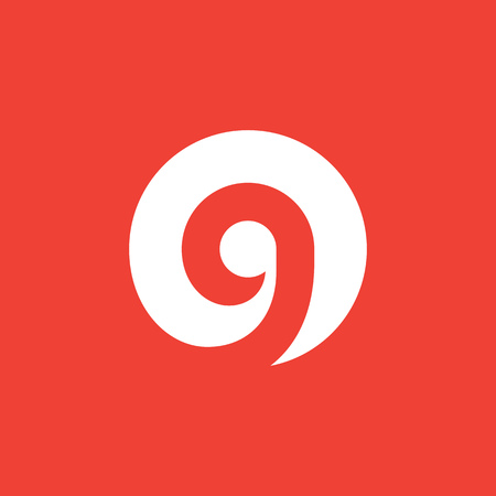 number 9: Letter G number 9  icon design template elements