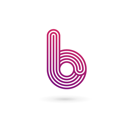 rounded: Letter B logo icon design template elements Illustration