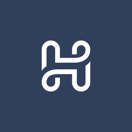 element: Letter H logo icon design template elements