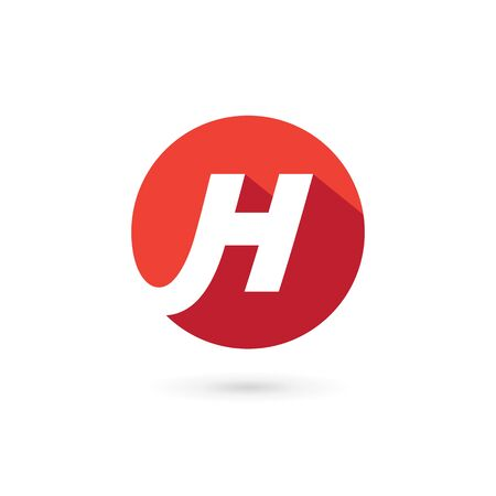 Letter H   icon design template elements