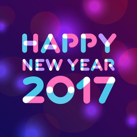 Happy new year 2017 greeting card design Zdjęcie Seryjne - 67919107