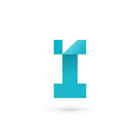 letter i: Letter I  icon design template elements