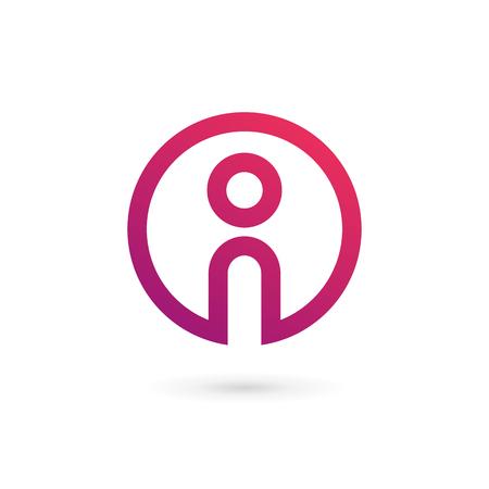 Éléments du modèle de conception icône lettre I info
