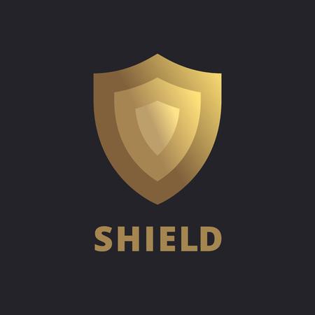 logo icono elementos de plantilla de diseño de escudo