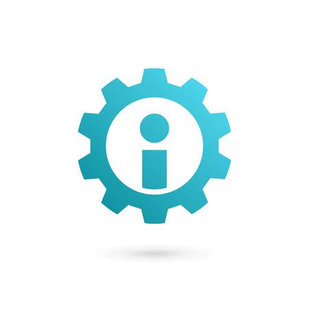 Letter I technology logo icon design template elements