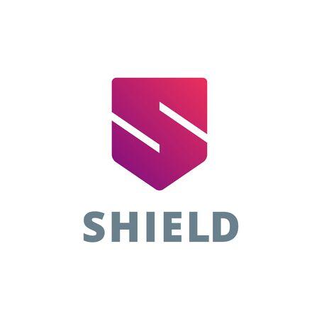 Letter S schild logo pictogram ontwerp sjabloon elementen